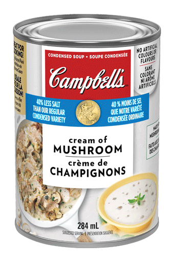 Campbell's® Condensed 40% Less Salt Cream Of Mushroom
