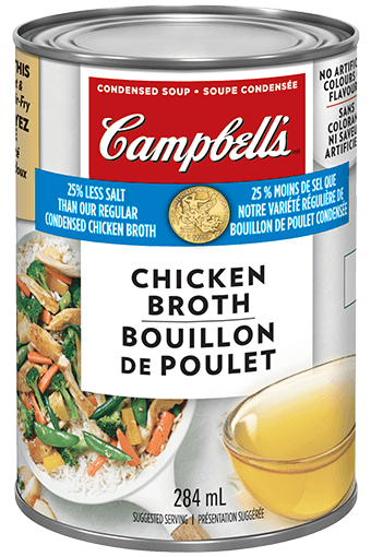 Campbell's Condensed 25% less salt chicken broth can