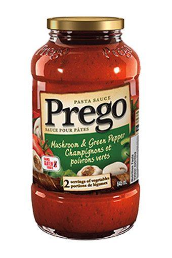 Prego Pasta Sauce Mushroom & Green Pepper