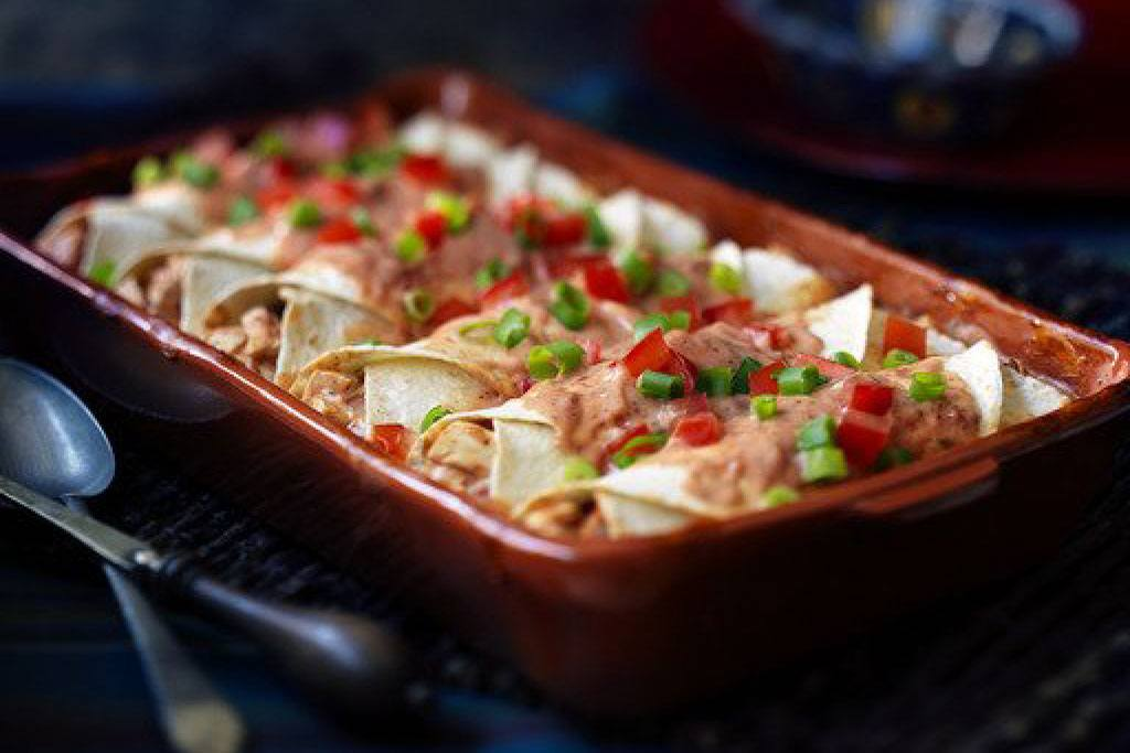 Easy Cheese And Chicken Enchiladas
