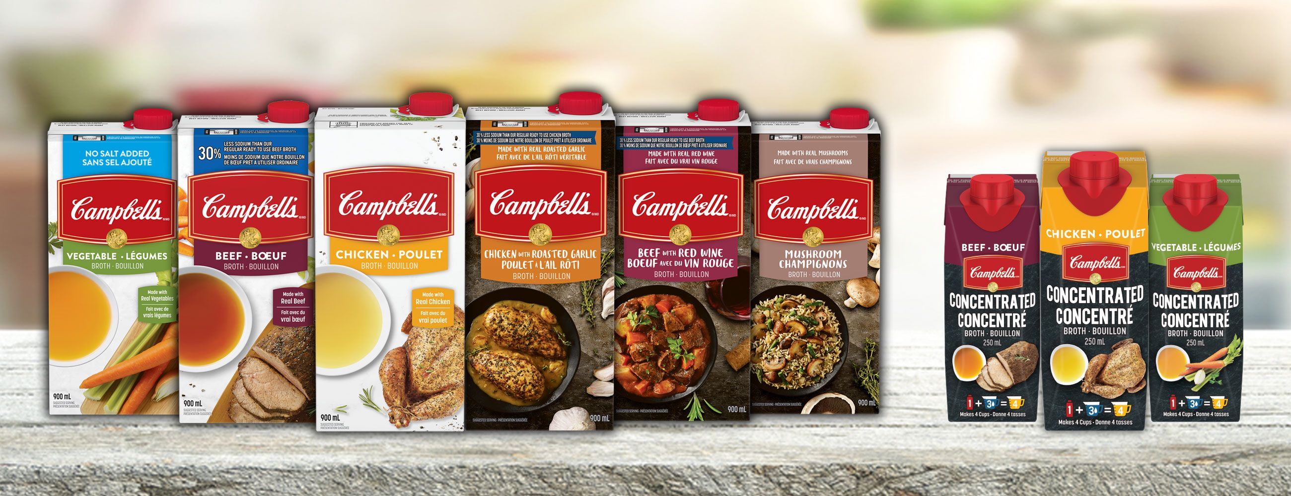 Campbell's® Broths and Concentrated Broths